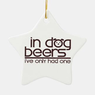 In Dog Beers (w/Dog) Ornaments
