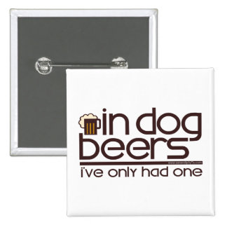 In Dog Beers (w/Mug) Pinback Buttons