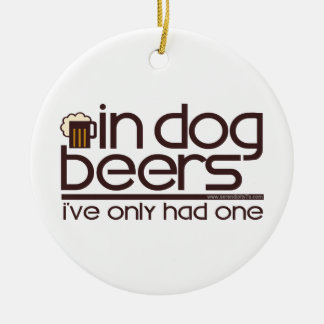 In Dog Beers (w/Mug) Christmas Ornament