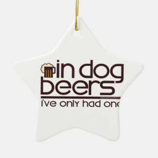In Dog Beers (w/Mug) Christmas Ornaments