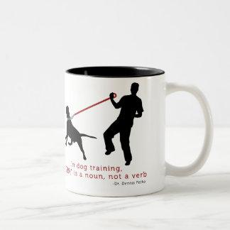 In Dog Training, Jerk Is A Noun Two-Tone Coffee Mug