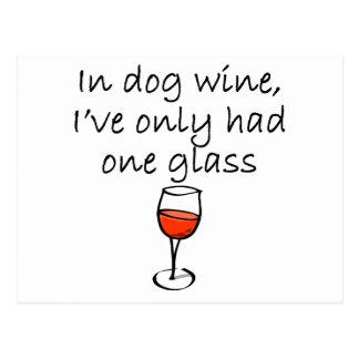 In Dog Wine Postcard