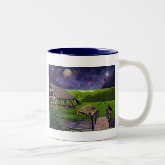 In Englands Green and pleasant land Two-Tone Coffee Mug