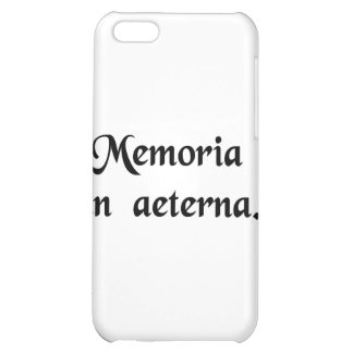 In everlasting remembrance. iPhone 5C case