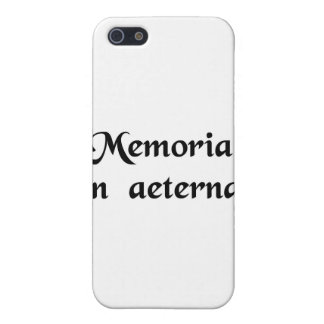 In everlasting remembrance. iPhone 5 case