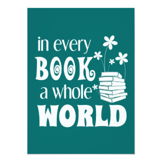 In Every Book A Whole World Card
