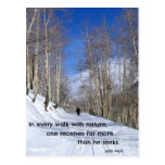 In every walk with nature...by John Muir Post Card