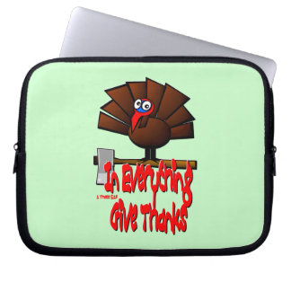 In Everything Give Thanks 1 Thessalonians 5 18 Laptop Computer Sleeve