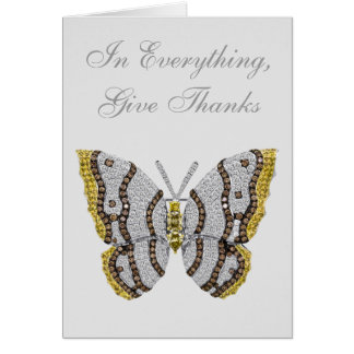 In Everything, Give Thanks Diamond Butterfly Cards
