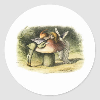 In Fairyland A Fairy Kiss by Richard Doyle Classic Round Sticker