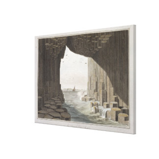 In Fingal's Cave, Staffa, from 'A Voyage Around Gr Canvas Print