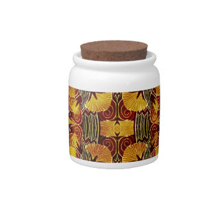 In Flames - Art Deco Pattern Candy Jars