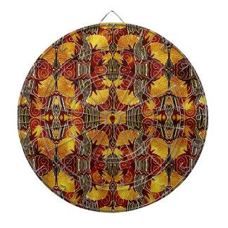 In Flames - Art Deco Pattern Dart Boards