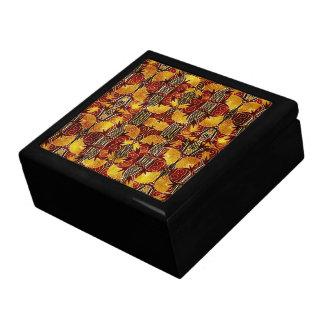 In Flames - Art Deco Pattern Trinket Boxes