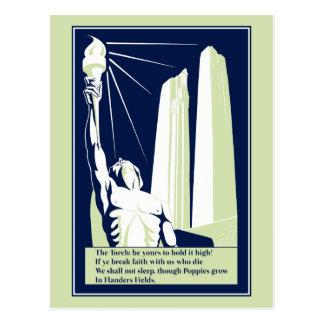 In Flanders Fields Vector Art World War I Memorial Postcard
