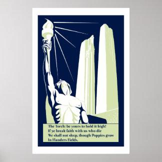 In Flanders Fields Vector Art World War I Memorial Posters