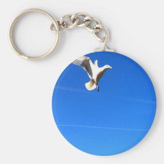 In Flight Basic Round Button Keychain