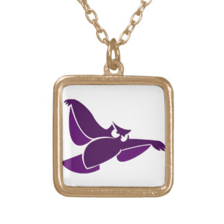 In Flight Owl 2 Gold Plated Necklace