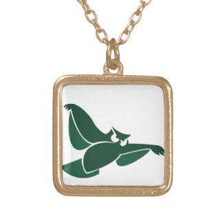 In Flight Owl 5 Gold Plated Necklace