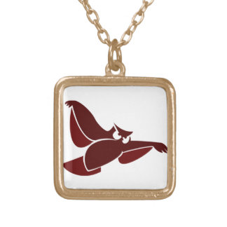 In Flight Owl Gold Plated Necklace