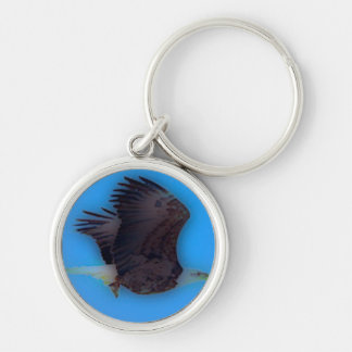 'In Flight' Silver-Colored Round Keychain