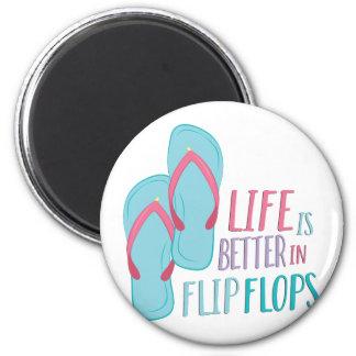 In Flip Flops 2 Inch Round Magnet