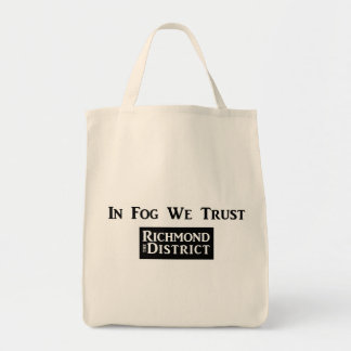 In Fog We Trust Grocery Tote Grocery Tote Bag