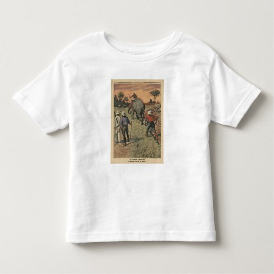 In French Congo, elephant trained to ploughing Toddler T-shirt