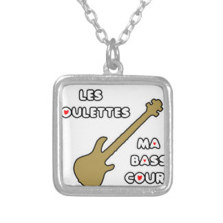 In front of PULLETS my LOW COURT Silver Plated Necklace