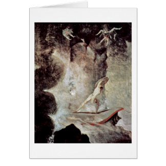 In Front Of Scylla And Charybdis By Johann Fuseli Card