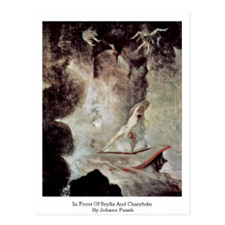 In Front Of Scylla And Charybdis By Johann Fuseli Post Card