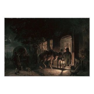 In front of the Pub, 1843 Poster