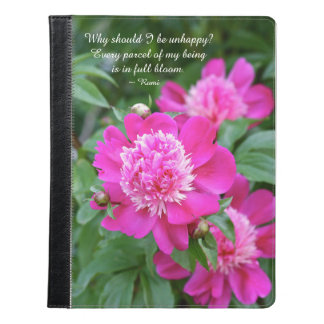 In Full Bloom with Peonies iPad Case