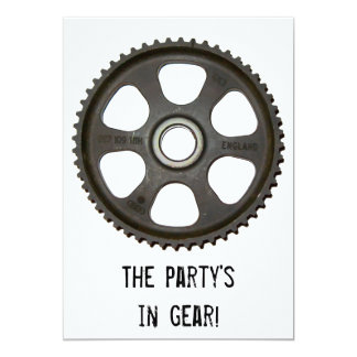 In Gear Party Invitation
