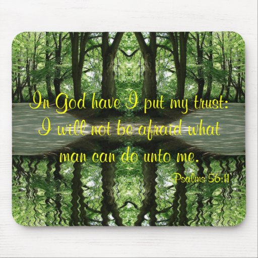 In God Have I Put My Trust Mousepad