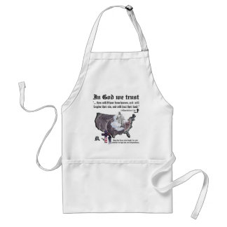 IN GOD WE TRUST - 2 Chronicles 7:14 Adult Apron