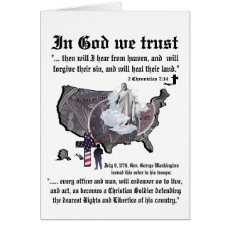 IN GOD WE TRUST - 2 Chronicles 7:14 Greeting Card