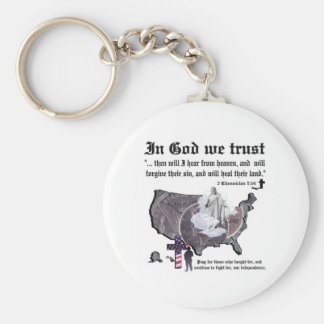 IN GOD WE TRUST - 2 Chronicles 7:14 Keychain