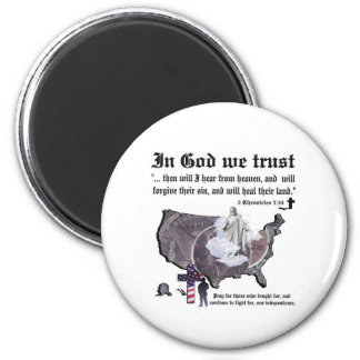 IN GOD WE TRUST - 2 Chronicles 7:14 Magnets