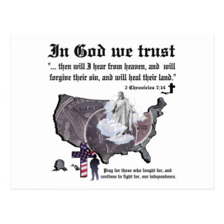 IN GOD WE TRUST - 2 Chronicles 7:14 Postcard