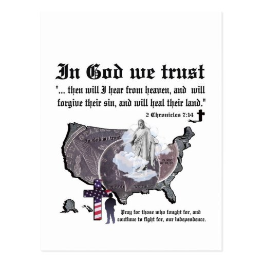 IN GOD WE TRUST - 2 Chronicles 7:14 Post Card