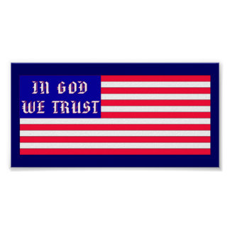 In God We Trust American Flag Poster