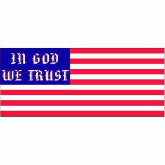 In God We Trust American Flag Statuette
