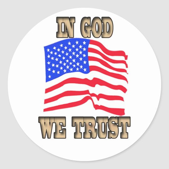 In God We Trust American Flag Sticker