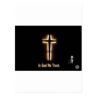In God We Trust - Barack Obama Postcard