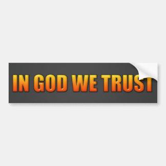 In God We Trust Bumper Stickers