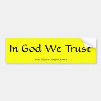 In God We Trust Bumper Sticker by SRF