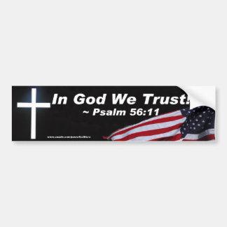 In God We Trust Bumper Sticker Car Bumper Sticker