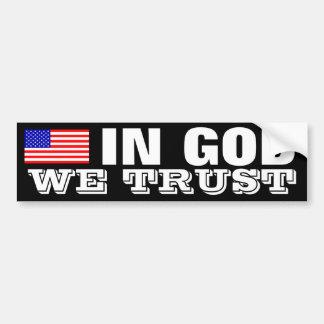 In God We Trust Car Bumper Sticker