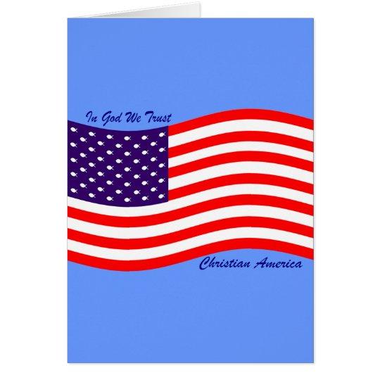 In God We Trust ~ Christian America Card